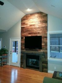Reclaimed barnwood fireplace, Wicked Old Wood Co., Denver