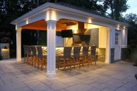 15' x 22' Custom Pool House/Cabana with Outdoor Kitchen ...