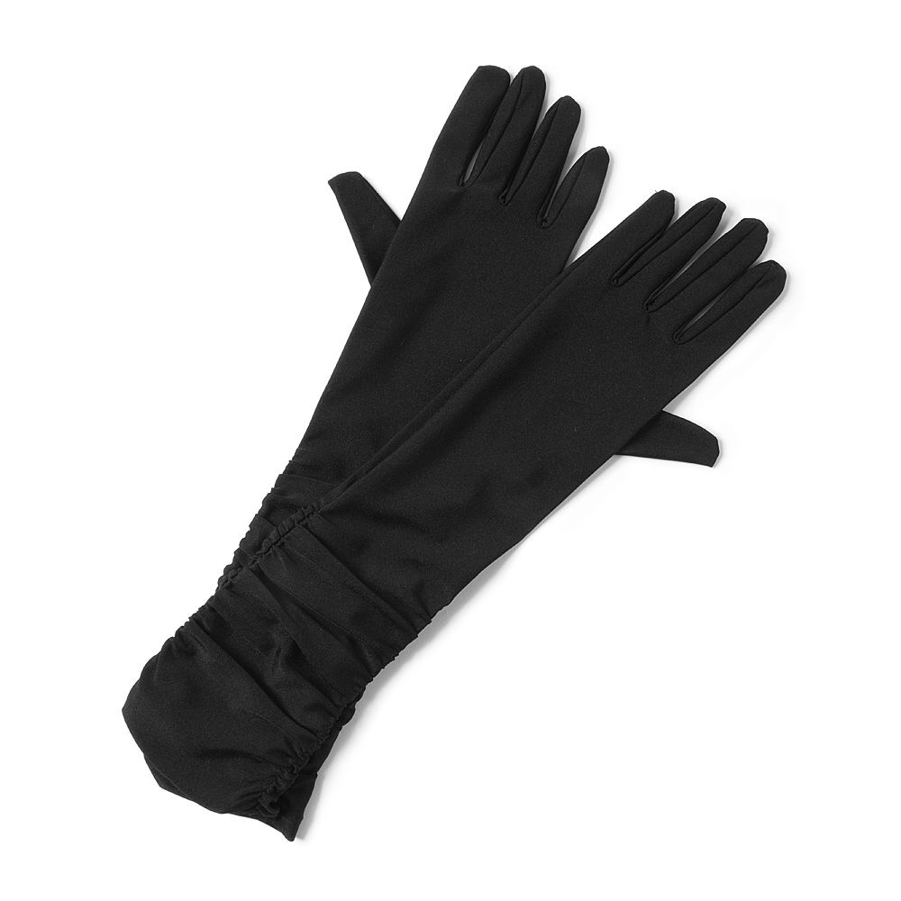 Black ruched gloves claire s 386 253 8912