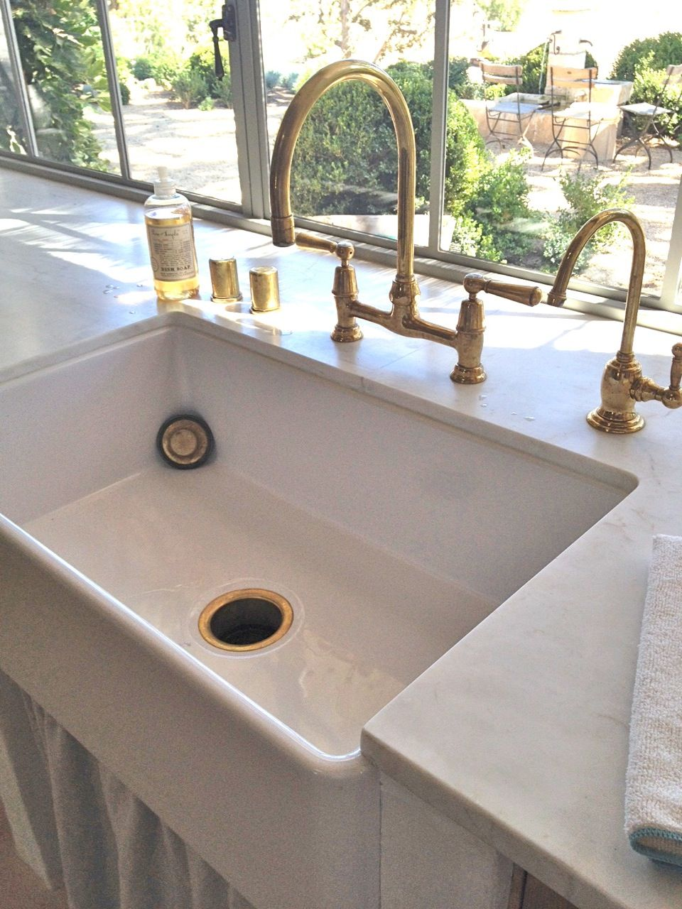 unlacquered brass kitchen faucet Related image Brass TapBrushed Brass FaucetKitchen