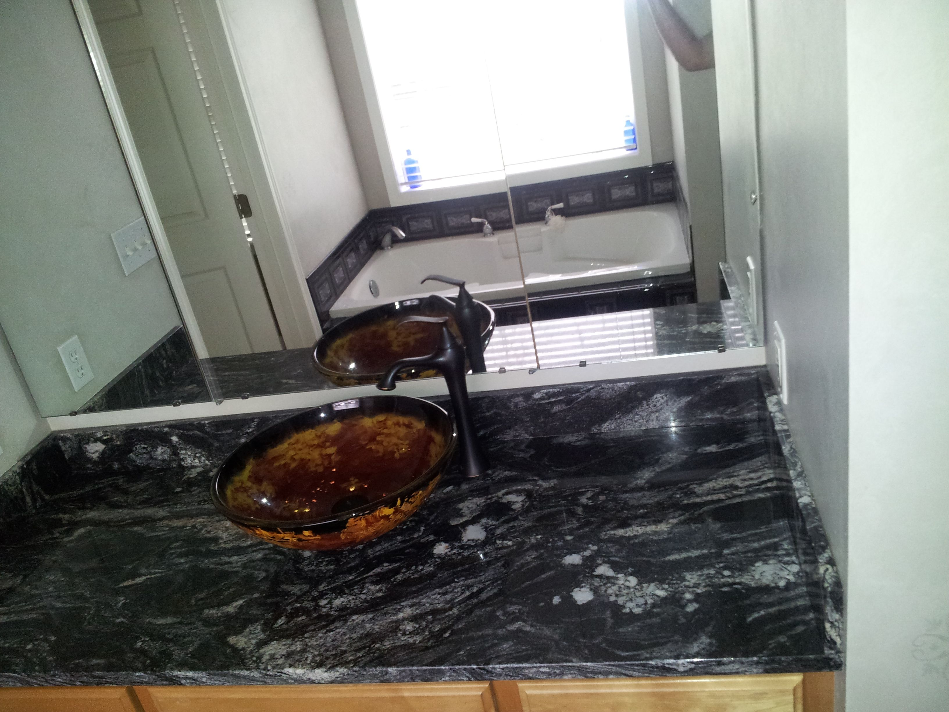 Black Titanium Granite Countertops Titanium Granite Countertop For Our Masterbath With Black