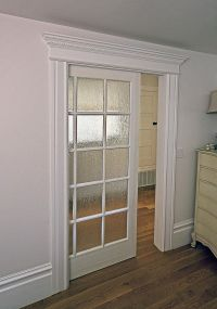 Interior, : Cool White Victorian Wall Sliding Door ...