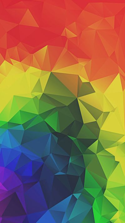 Rainbow Triangles Abstract iPhone 6+ HD Wallpaper | Abstract iPhone Walls | Pinterest | Hd ...