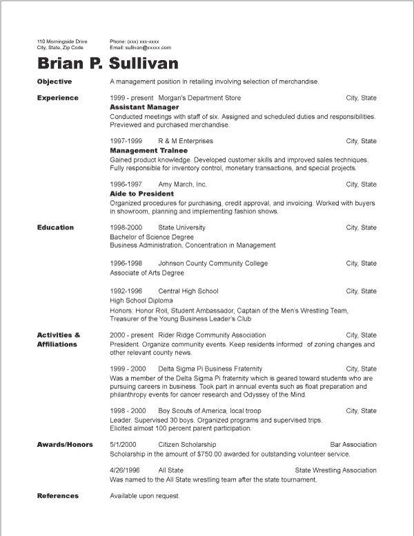 Chronological Resume Sample - http\/\/jobresumesample\/1310 - chronological resume templates