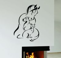 Wall Decal Horse Dog Cat Pet Animal shelter Veterinary ...