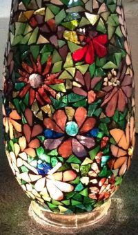 Mosaic Flower Vase | Stained Glass Panels | Pinterest ...