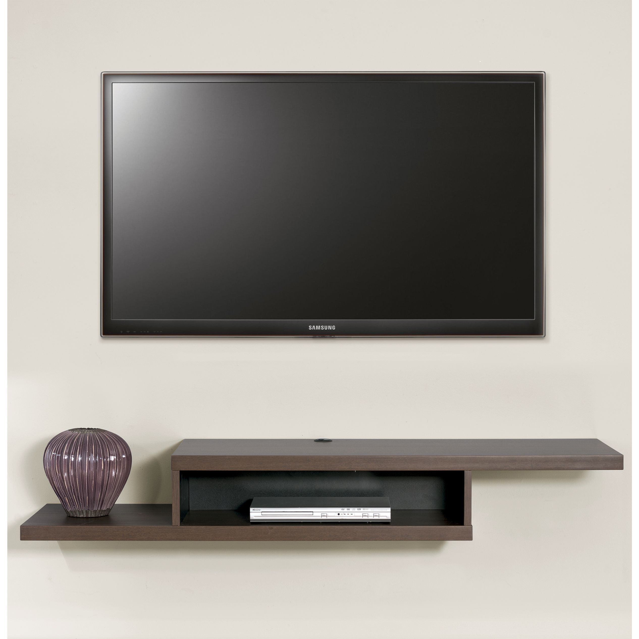 Wall Mounted Tv Console Ideas This Wall Mounted Tv Console Has A Modern Flair With The