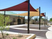 Image of: Sun Shade Sail Residential Patio