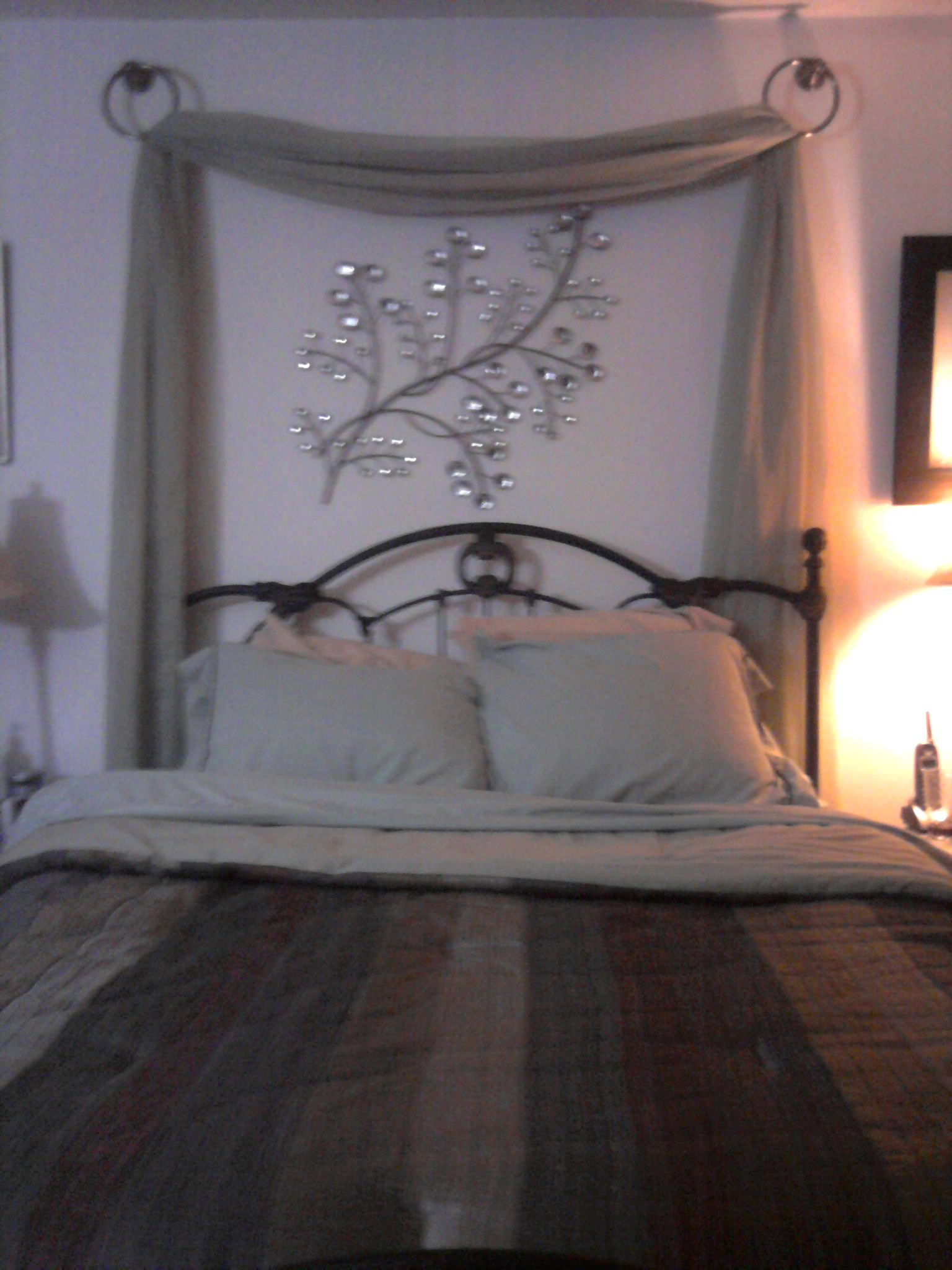 Wall Art Behind Bed Love The Drape Behind The Bed Home And Decor Pinterest