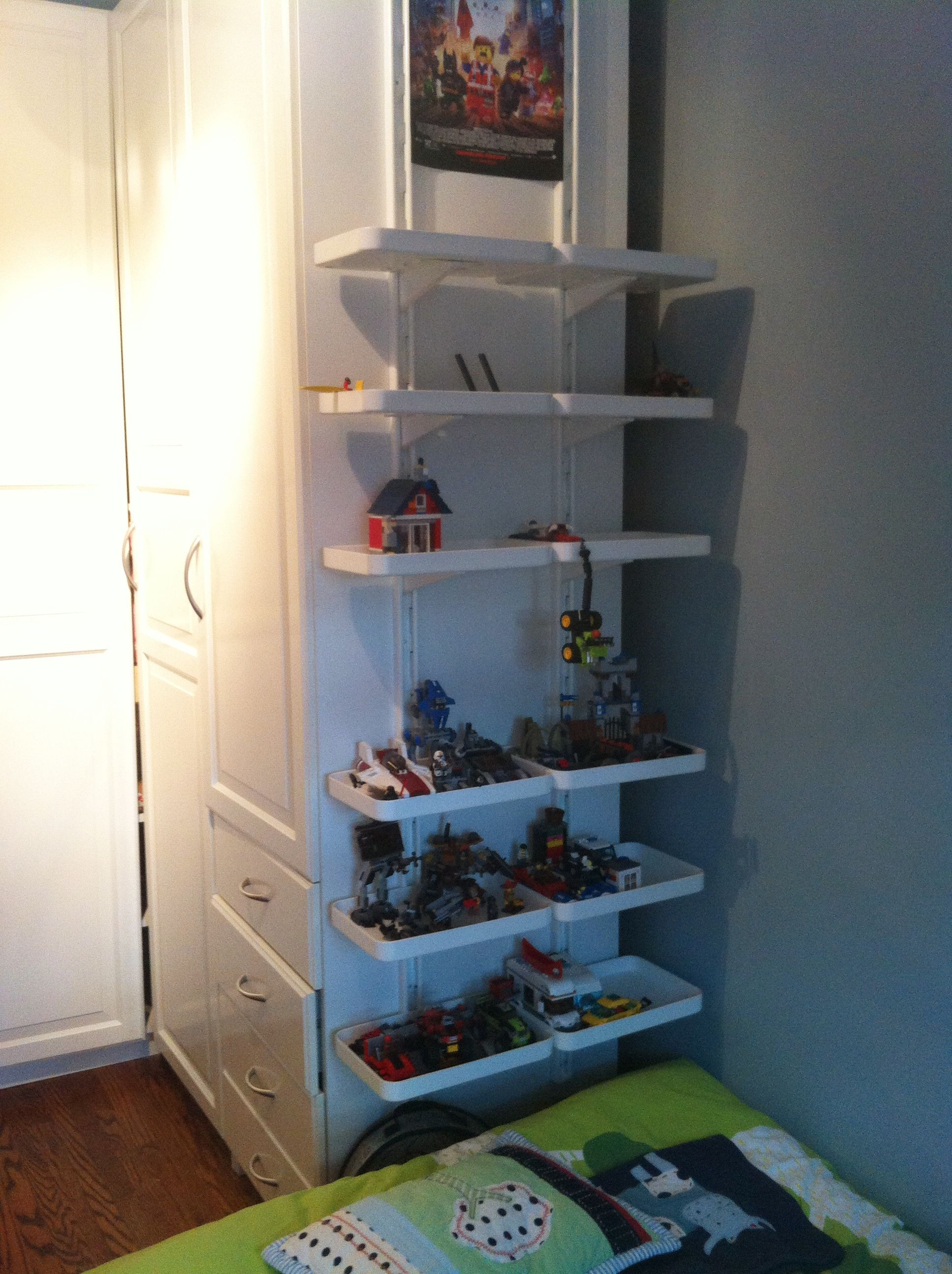 Wall Display Shelves Ideas Ikea Algot Wall Upright With Shelves As Lego Display