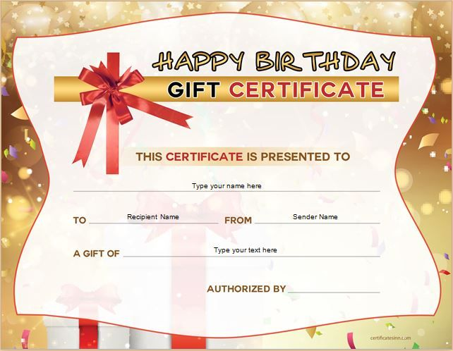 Birthday Gift Certificate for MS Word DOWNLOAD at http - christmas certificates templates for word