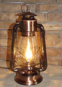 Dietz Copper-Bronze Electric Lantern Lamp | Rustic ...