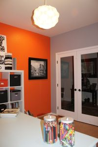 We have leftover orange paint?? Maybe, for an accent wall ...