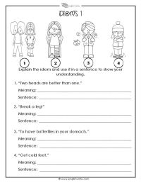 Idioms Worksheets | www.imgkid.com - The Image Kid Has It!