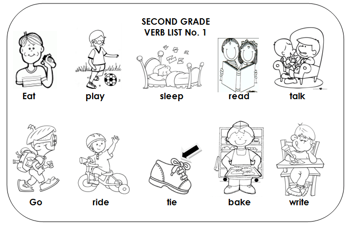 Free Coloring Pages Of Action Verbs Literacy