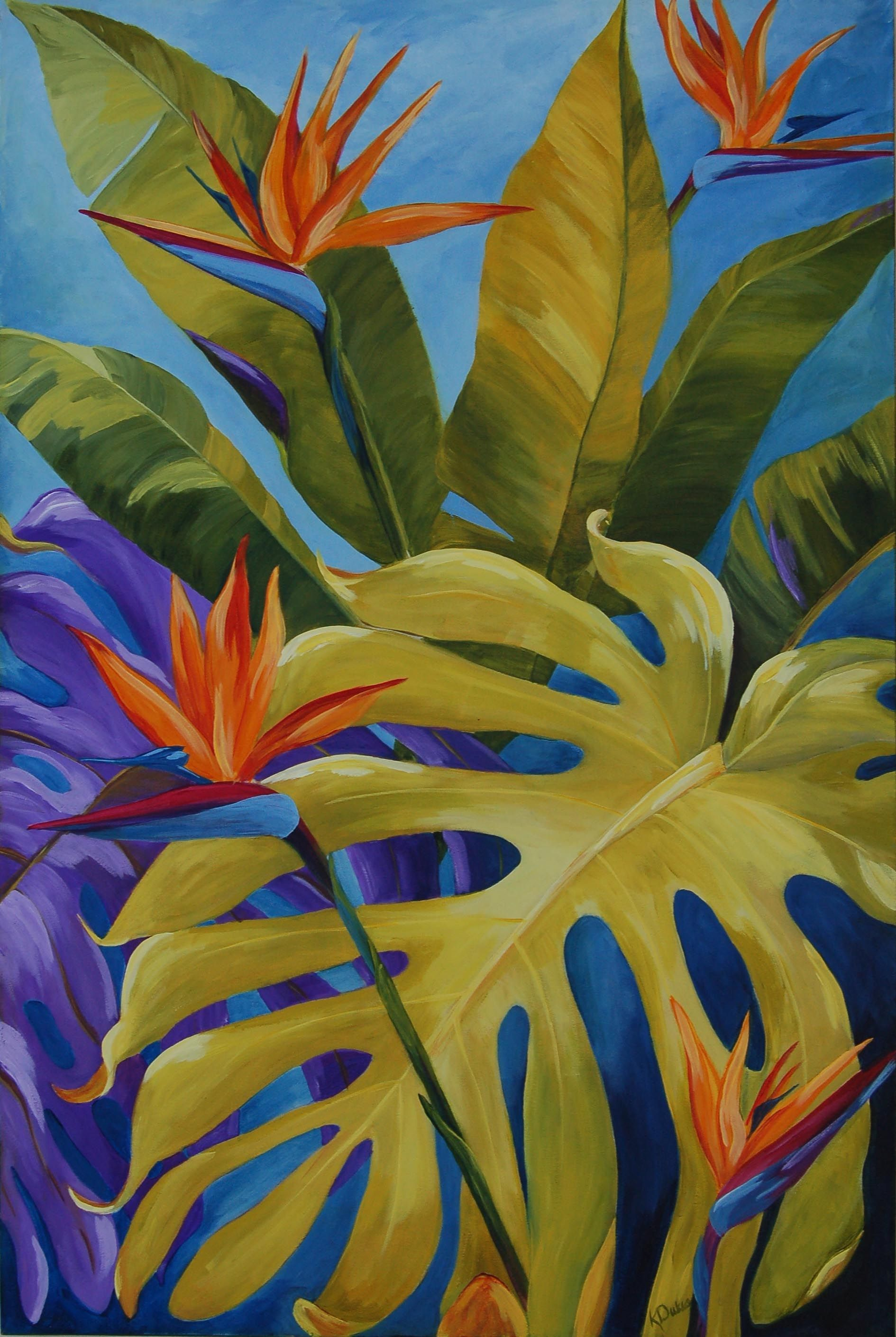 Tropical Artwork Karen Dukes Tropical Birds Original Paintings Art