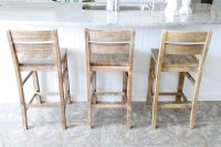 kitchen island chairs with backs | We settled on these ...