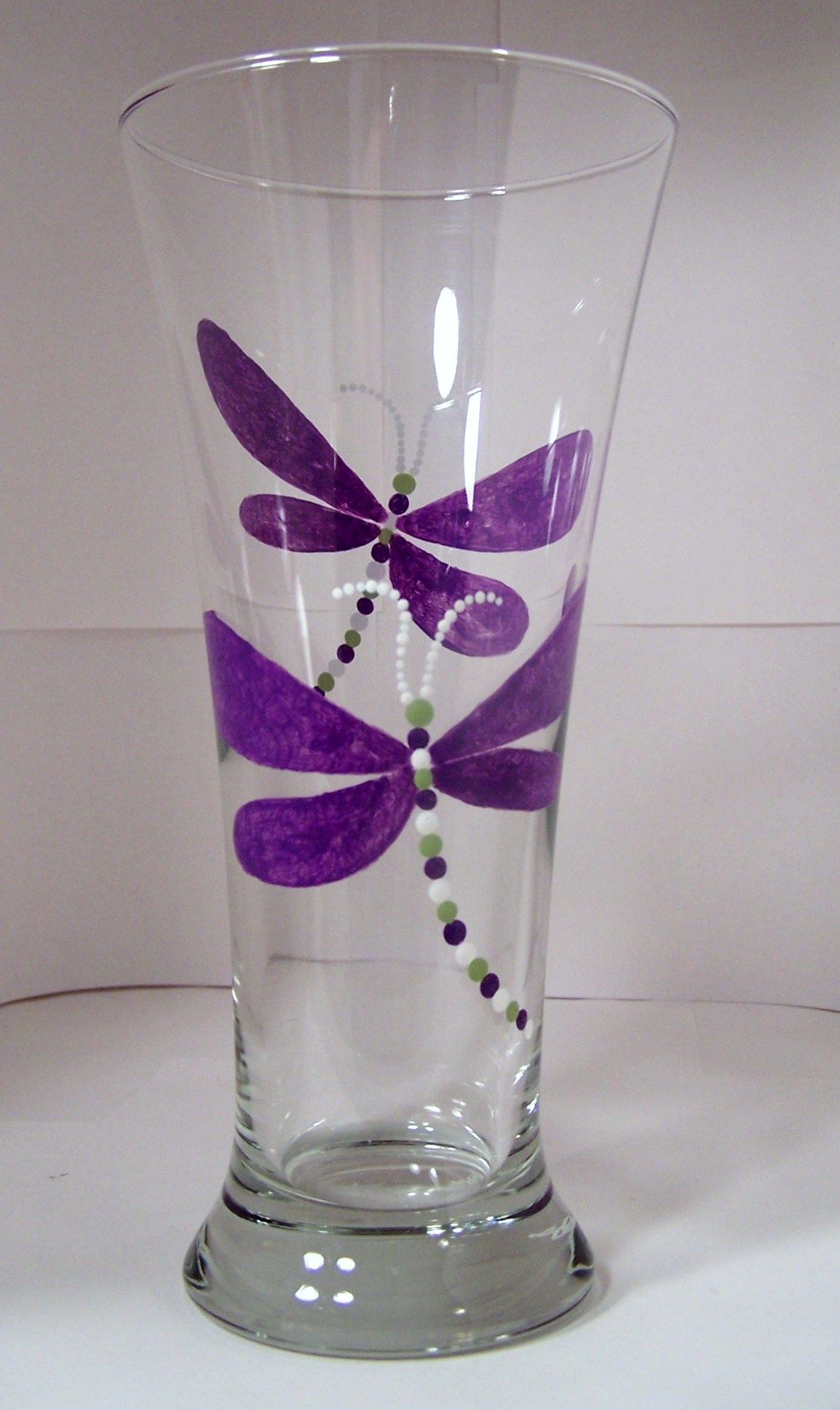 Wine Glass Ideas Hand Painted Glass Dragonfly Pilsner Hand Painted Wine