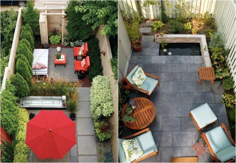Hinterhof mit kleinem Garten und Terrasse modern gestalten - kleine terrasse gestalten