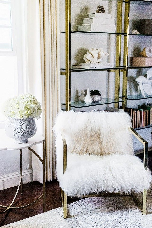 Inside a Fashion Bloggeru0027s Insanely Glam Home Chic living room - living room armchair