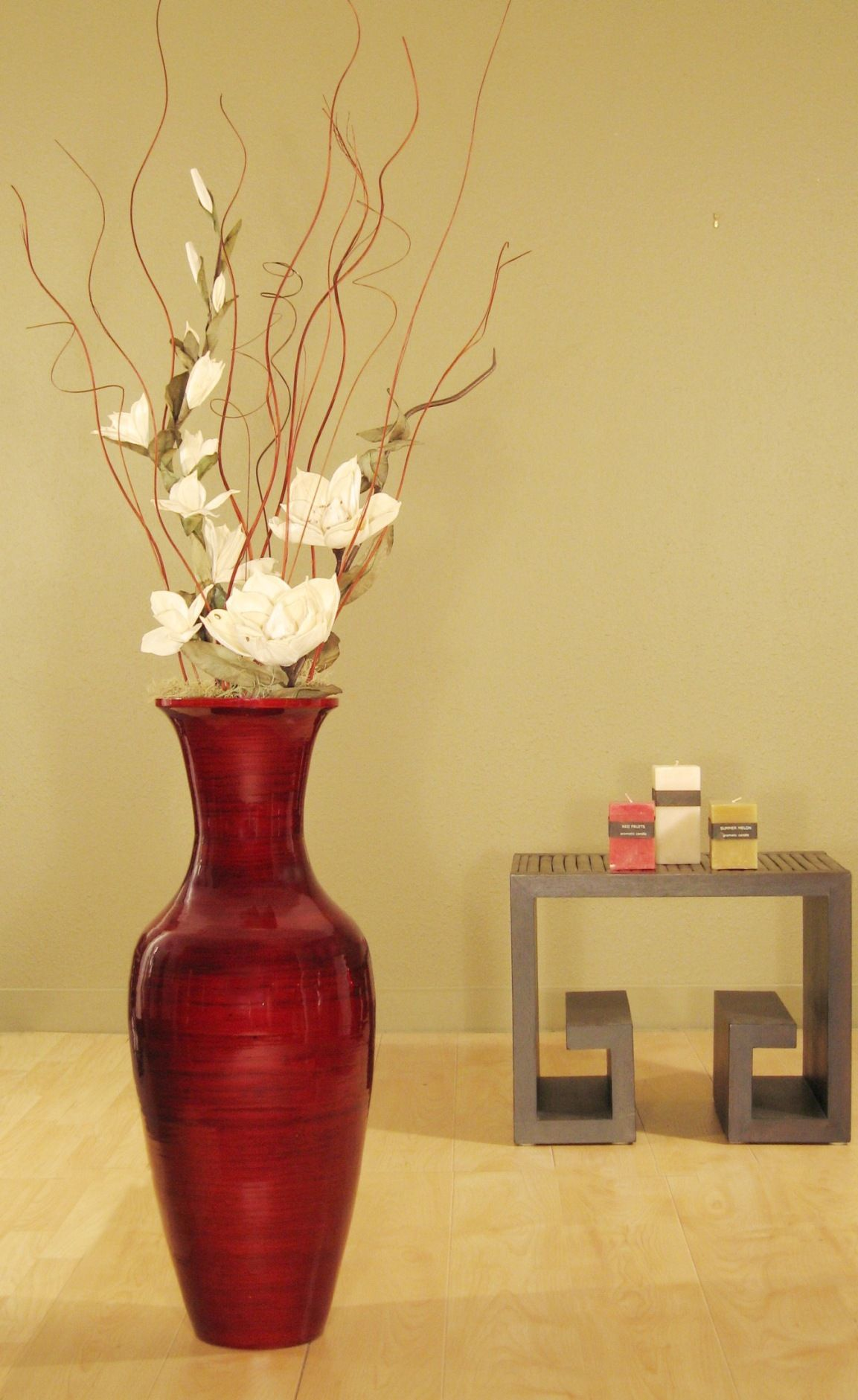 Home Vases Accent Your Home Decor With This Bamboo Floor Vase And