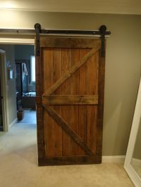 Fascinating Barn Wood Sliding Single Rustic Doors For ...