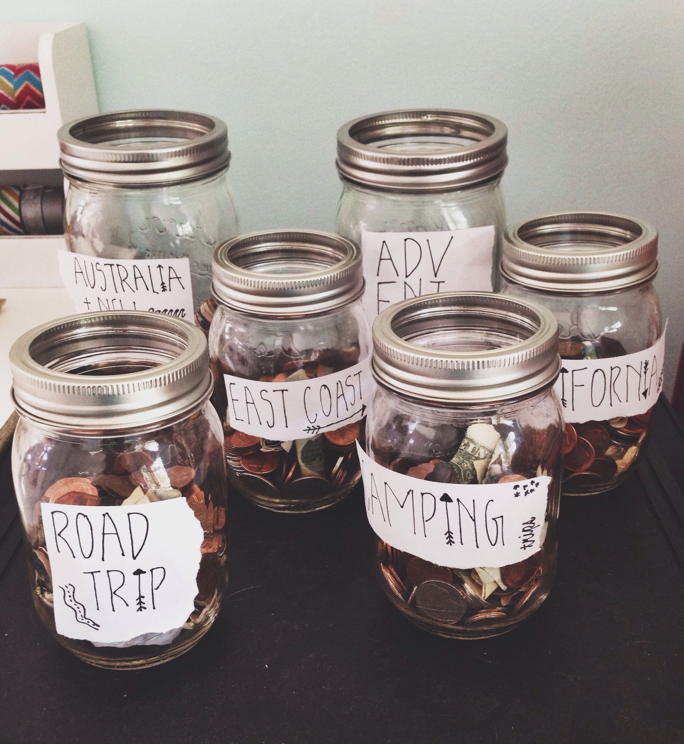 Coin Saver I N S T A Sincerelyylilyy Use Mason Jars And Ripped