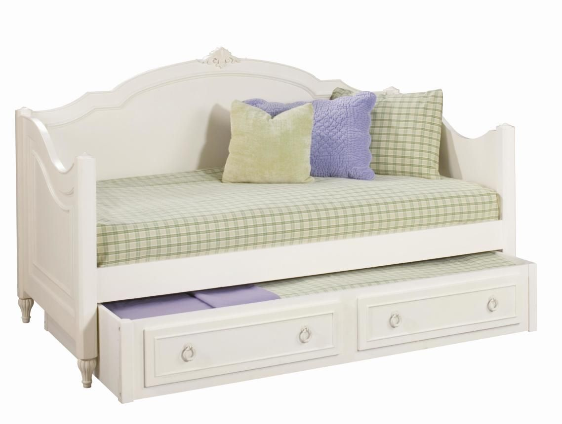 White Trundle Bed Daybeds For Girls Cozy White Wooden Curved Beds For Sale