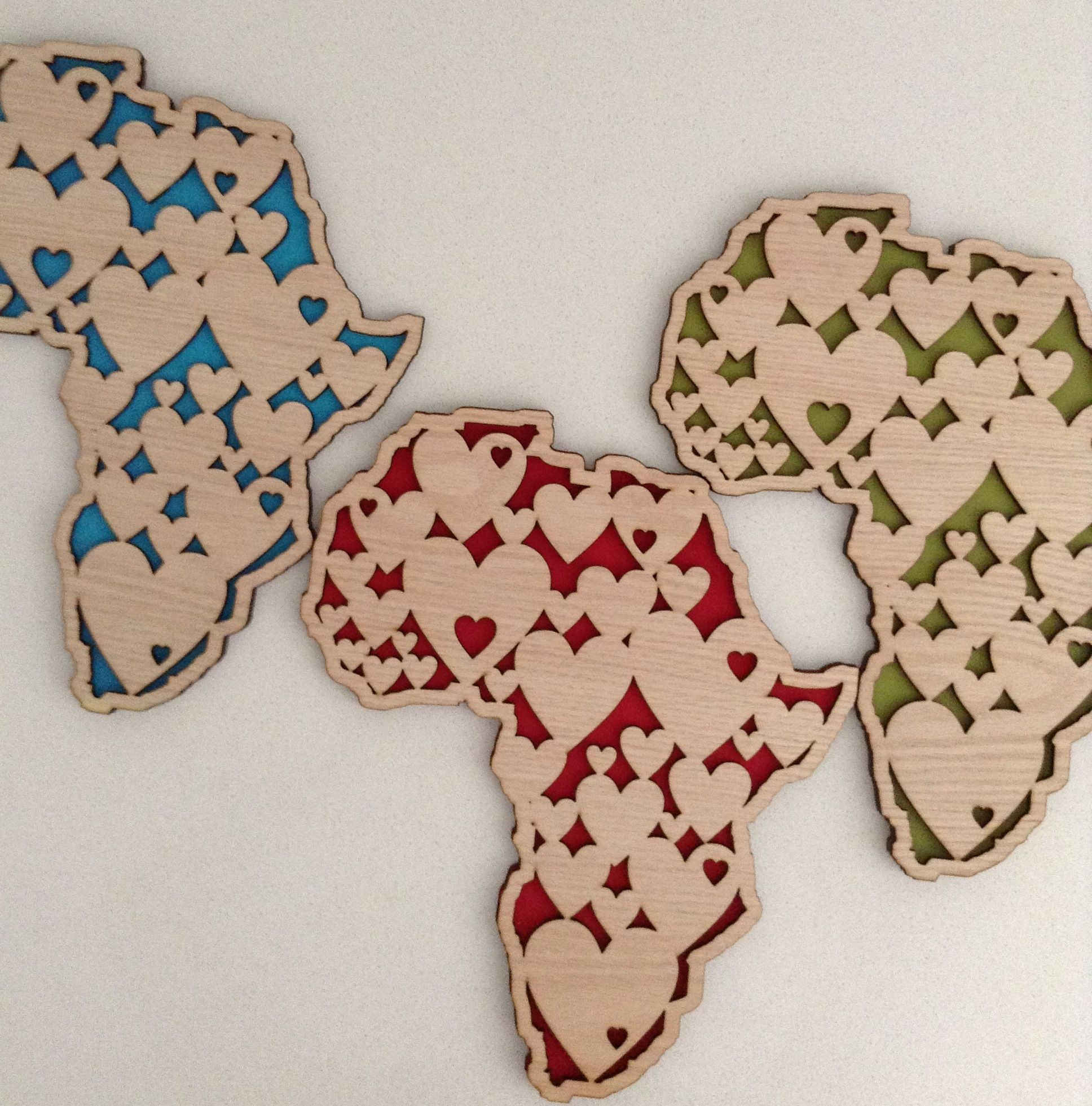 African Wooden Wall Art What 39s Cutting Wall Art Africa Hearts Laser Cut What