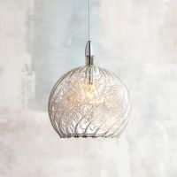 "Possini Euro 4 1/2"" Wide Swirl Wire Glass Mini Pendant ..."
