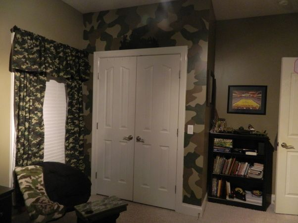 camo room ideas for boys