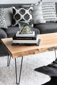 MY DIY | Wood Slab Coffee table | Salones