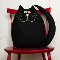 black cat pillow | Kids pillow softies | Pinterest | Black ...