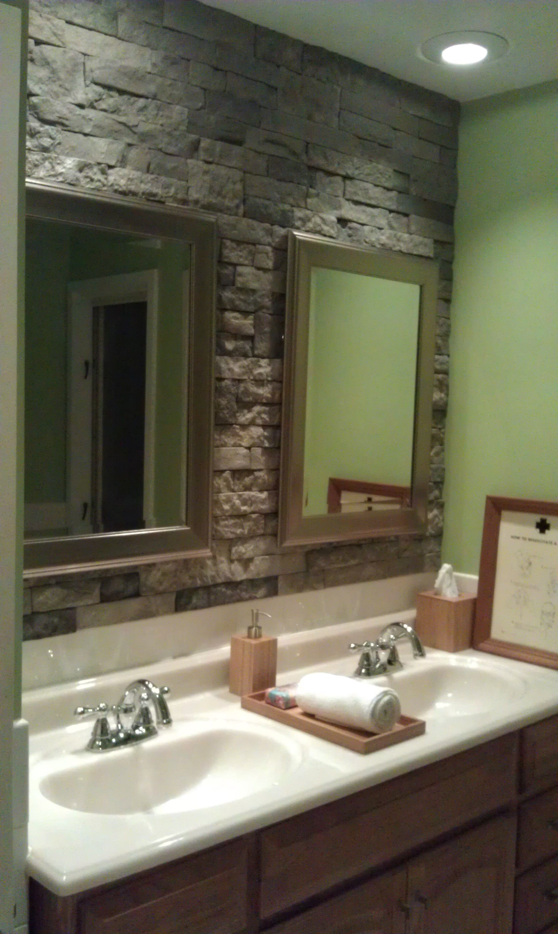 Backsplash Accent Ideas Airstone Stone Accent Wall In Bathroom Can 39t Wait To Do