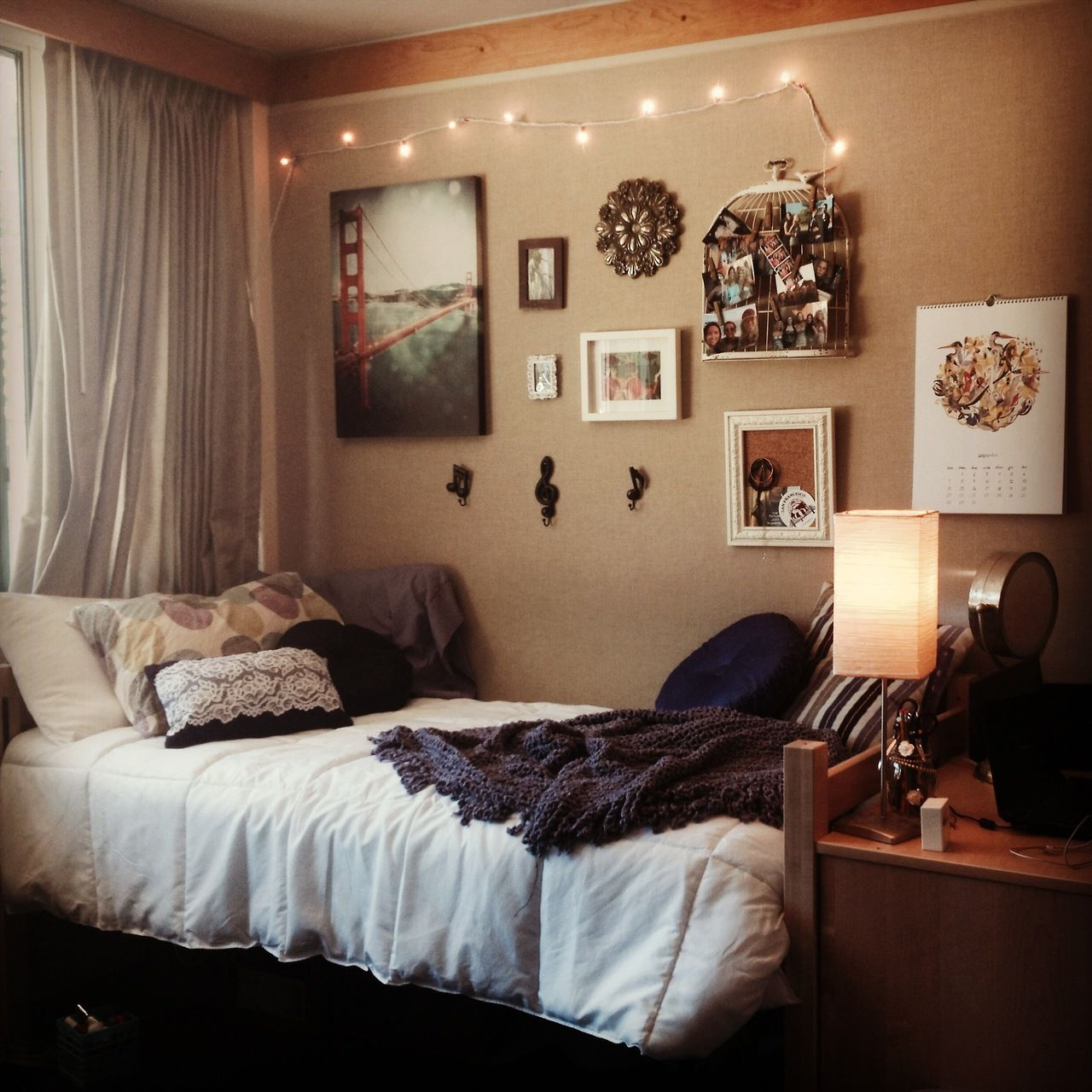 Bedroom Decorations Pinterest Dorm Room From University Of California Santa Barbara