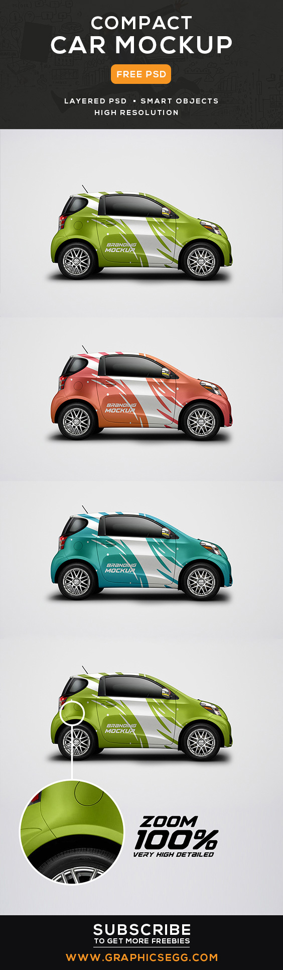 Today s freebie is car mockup free psd this mock up allows you to make awesome presentations of your works it can be mobile app website prints and more
