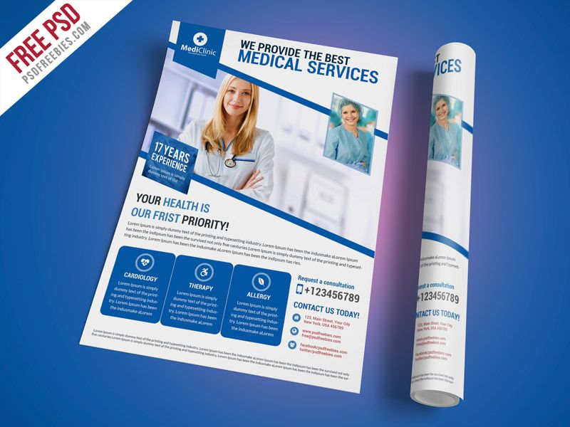 Cool Medical Services Flyer Template Free PSD Download Medical - advertising flyer template