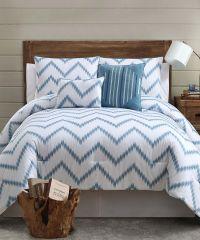 Blue Chevron Bedding | Bedroom | Pinterest | Comforter and ...