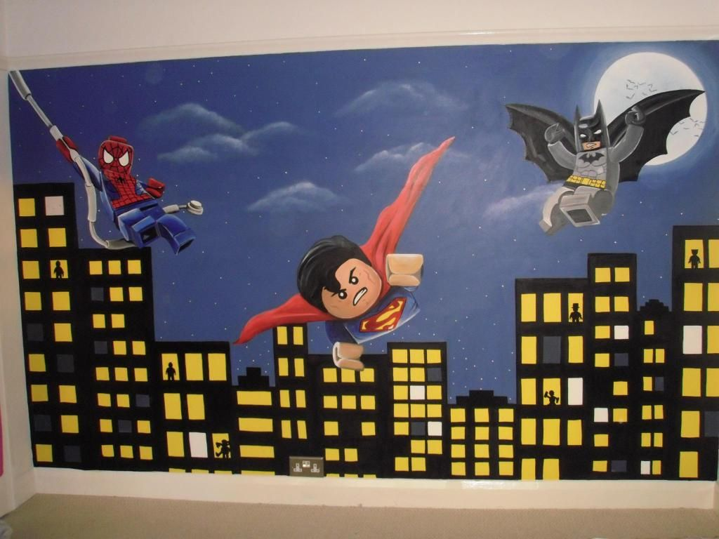 Superman Room Ideas Lego Superhero Dc And Marvel Spiderman Batman And Superman