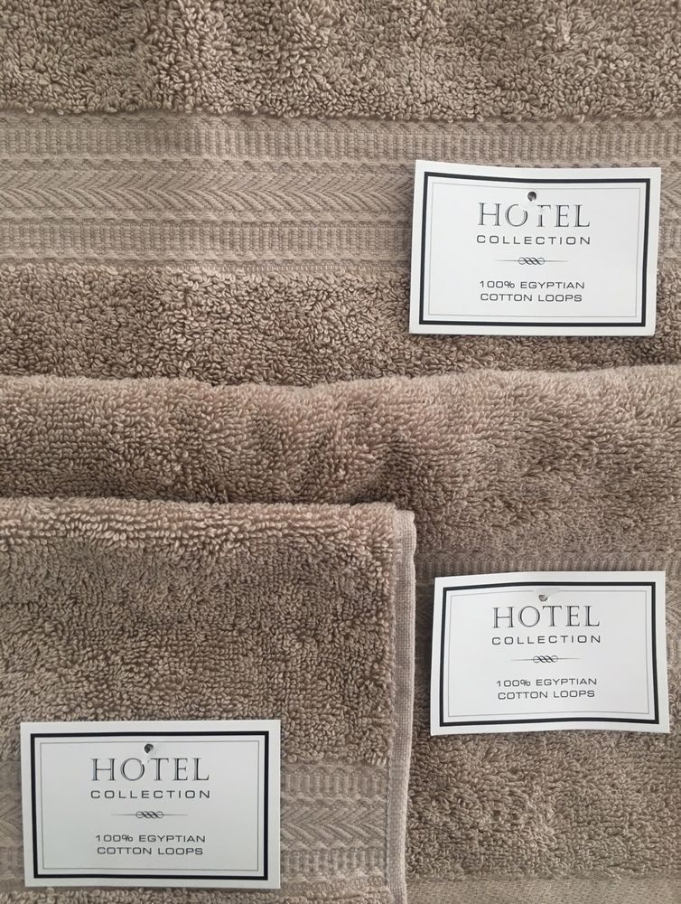 Details about Hotel Collection Towels Set of 3 Hand \ Wash 100 - badezimmer 3 set