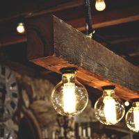 Reclaimed Wood Beams Best DIY | Diy wood, Beams and Bulbs