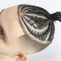 30 Dazzling Braided Bun For Men- Men Braids Hairstyles ...