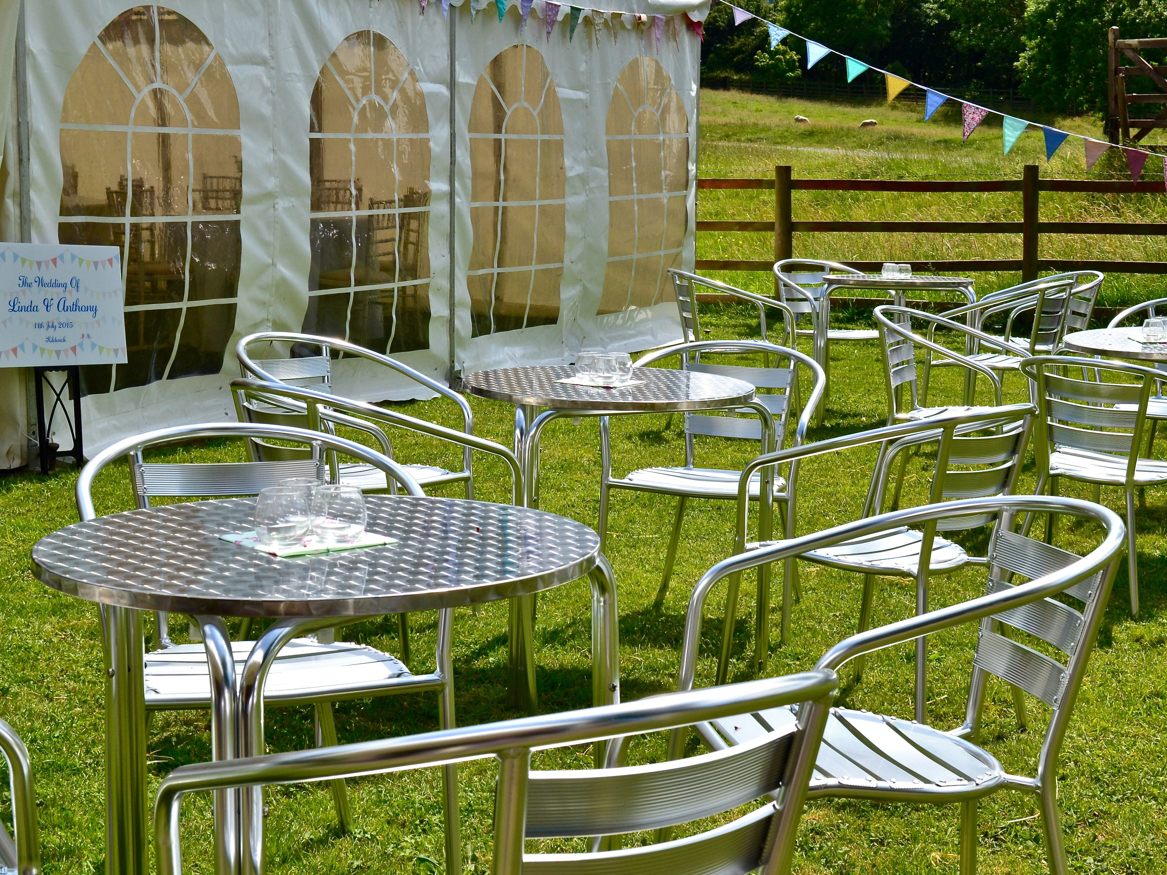 Table Bistrot Aluminium Aluminium Bistro Chairs And Tables First Choice Event Hire