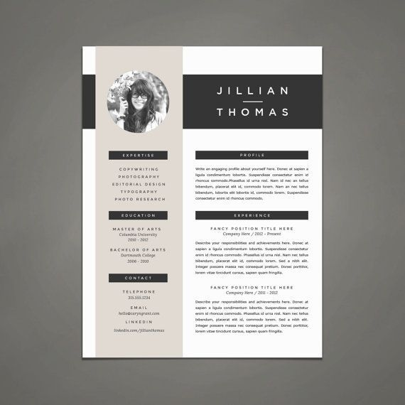 Professional Resume Template and Cover Letter Template for Word - cover letter designs