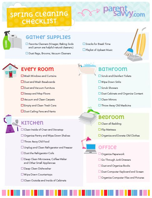 Spring Cleaning Checklist ParentSavvy ParentSavvy Blog - spring cleaning checklist