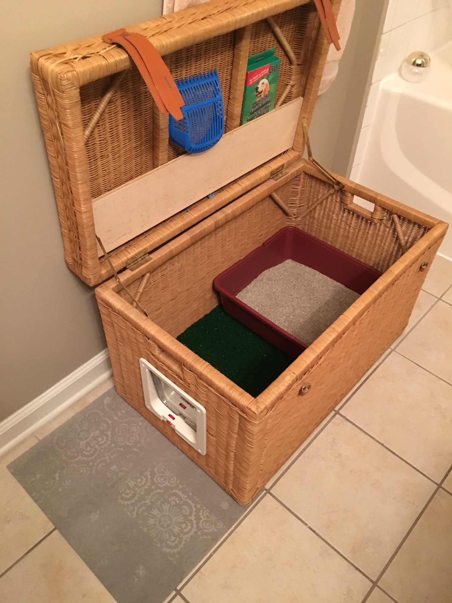 Diy Quotstealthquot Litter Box Litter Box Box And Stylish
