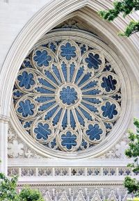 National Cathedral, Washington, DC - Rose window from the ...