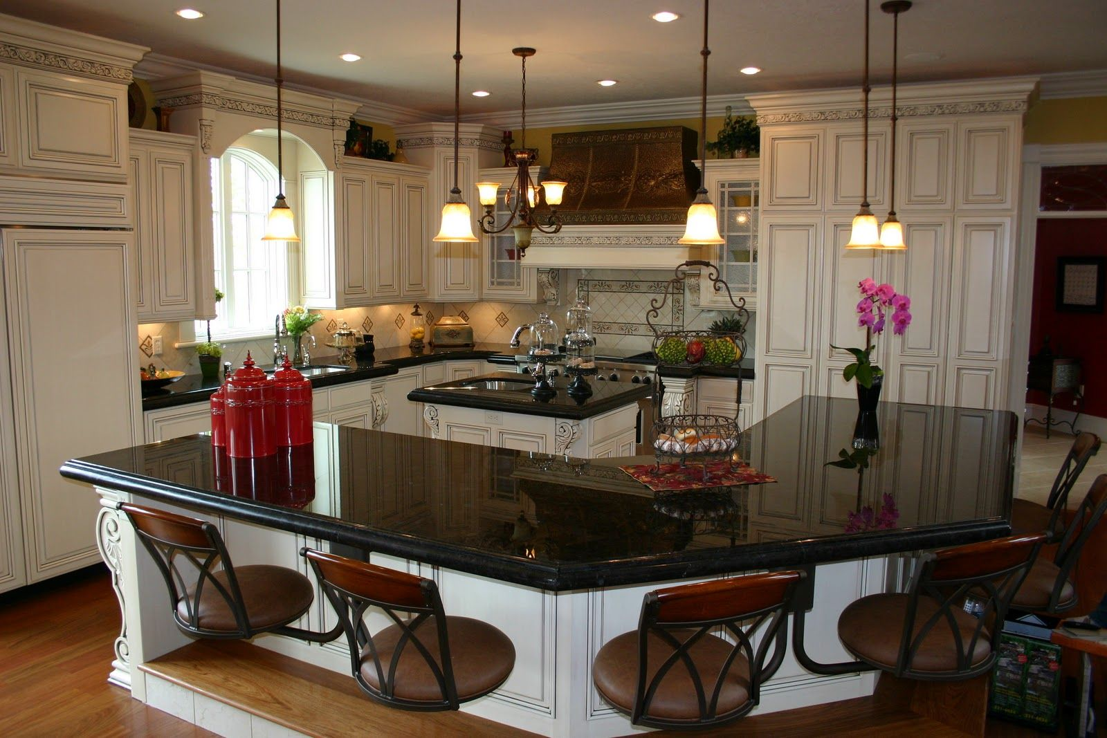 Black Kitchen Light Kitchens With Dark Cabinets And Light Granite The
