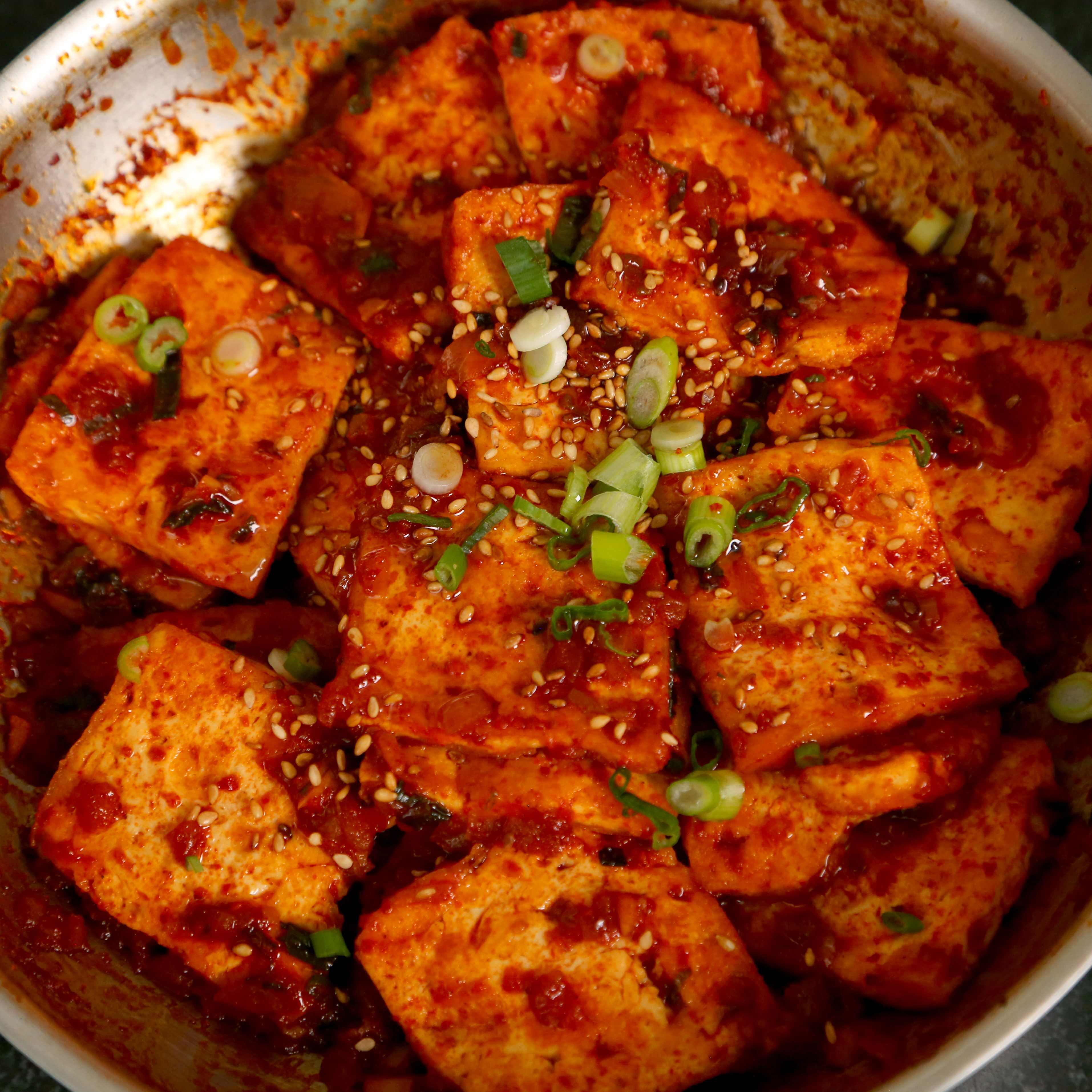 Cuisine Spicy Dubu Jorim Recipe Tofu And Spicy