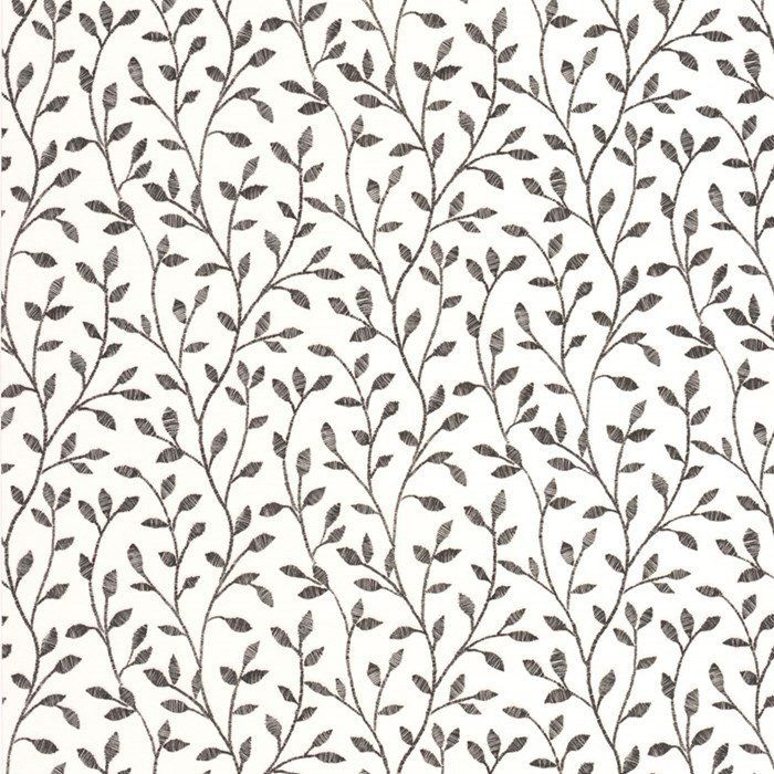 Boho Floral Wallpaper In Black And White Design By Graham